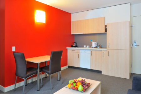 Metro Apartments on Bank Place One Bedroom Lounge
