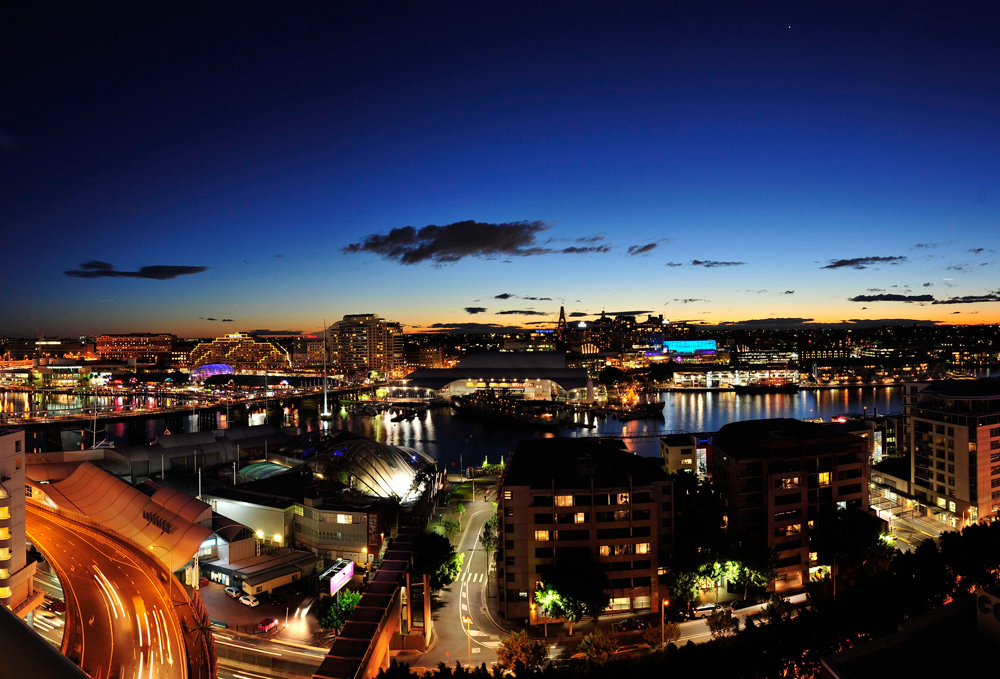 Metro Hotel and Apartments on Darling Harbour + Darling Harbour, Sydney + View