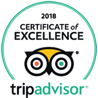 2018 Certificate of Excellence – Tripadvisor