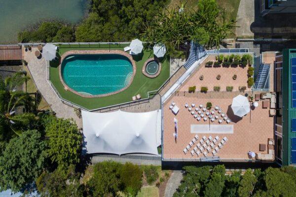 Metro Mirage Hotel Newport Aerial View
