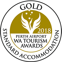 2018 Perth Airport WA Tourism Awards – Gold in Standard Accommodation
