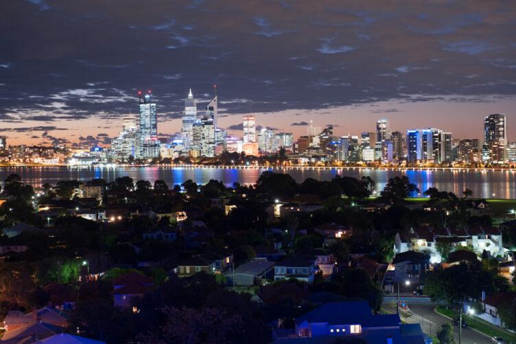 Metro Hotel Perth Night View