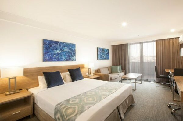 Aspire Hotel Sydney + Bedroom
