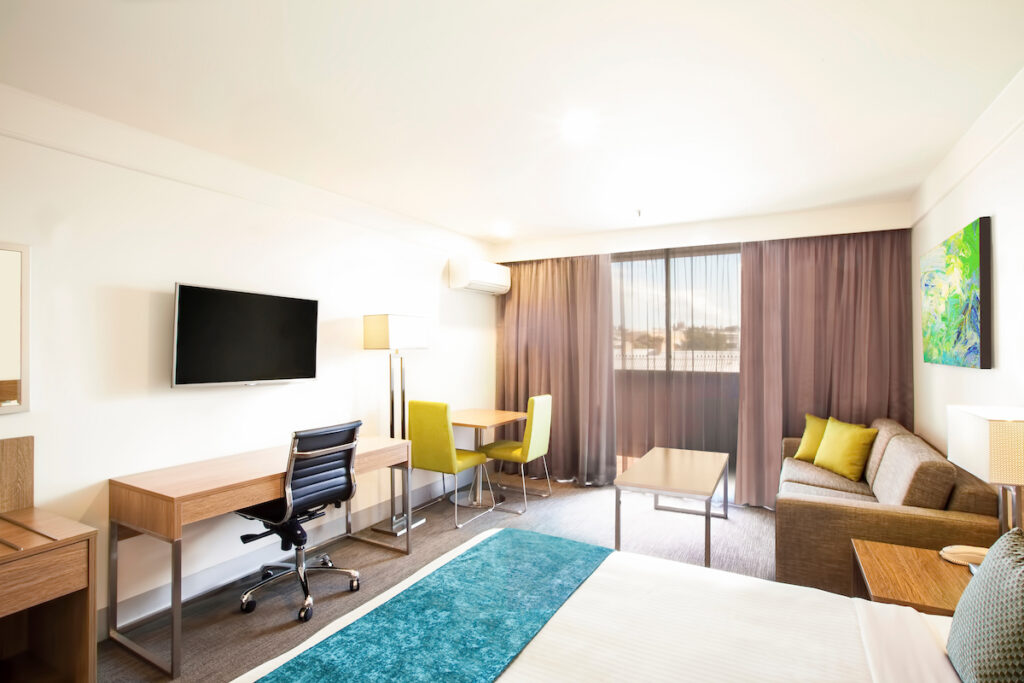 Aspire Hotel Sydney + Bedroom