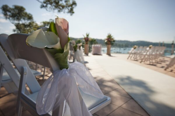 Romantic Waterfront Ceremony