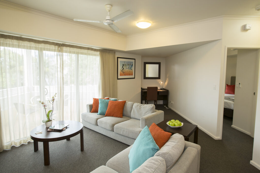 Metro Advance Apartments & Hotel Darwin 2 BR Lounge