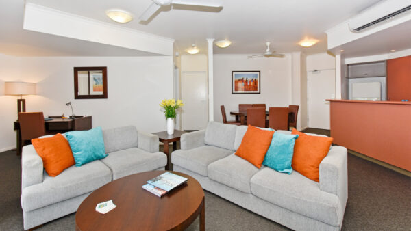 Metro Advance Apartments & Hotel Darwin Darwin Two Bedroom Apartment Lounge