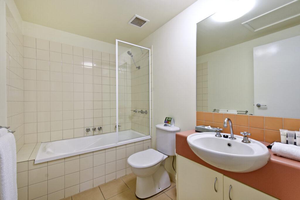 One Bedroom Apartment bathrooms