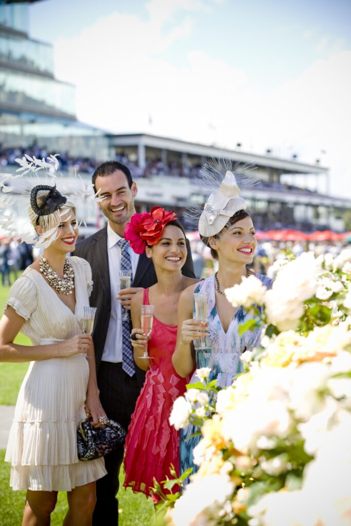 People enjoy the Spring Racing Carnival