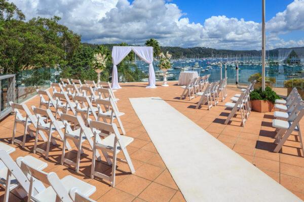 Metro Mirage Hotel Newport Terrace Wedding Ceremony